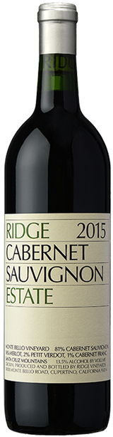 Ridge Vineyards Estate Cabernet Sauvignon 2015