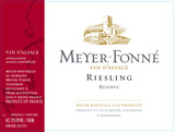 Domaine Meyer-Fonne Reserve Riesling 2016