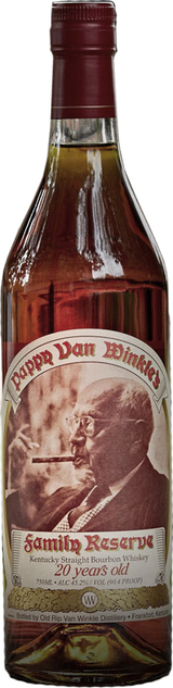 Old Rip Van Winkle Distillery Pappy Van Winkle's Family Reserve Bourbon 20 year old