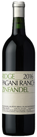 Ridge Vineyards Pagani Ranch Zinfandel 2016