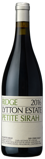 Ridge Vineyards Lytton Estate Petite Sirah 2016