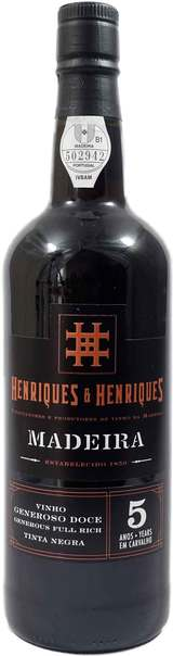 Henriques & Henriques Vinho Generoso Doce Full Rich Tinta Negra 5 year old