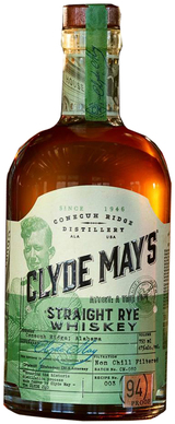Clyde May's Straight Rye Whiskey