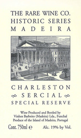 Rare Wine Company Historic Series Charleston Sercial Special Reserve Madeira