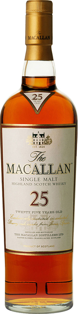 Macallan Single Highland Malt Scotch Whisky 25 year old