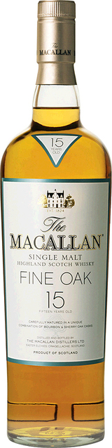Macallan Fine Oak Single Malt Scotch Whisky 15 year old