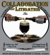 Avery Brewing Co. Collaboration Not Litigation