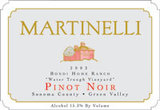 Martinelli Bondi Home Ranch Water Trough Vineyard Pinot Noir 2002