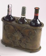 Poemard Cellars Three Bottle Metal Wine Chiller