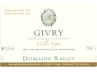 Domaine Ragot Givry Rouge 2013