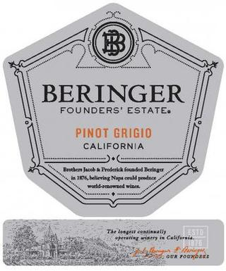 Beringer Founders' Estate Pinot Grigio 2014