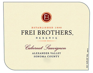 Frei Brothers Reserve Cabernet Sauvignon 2014