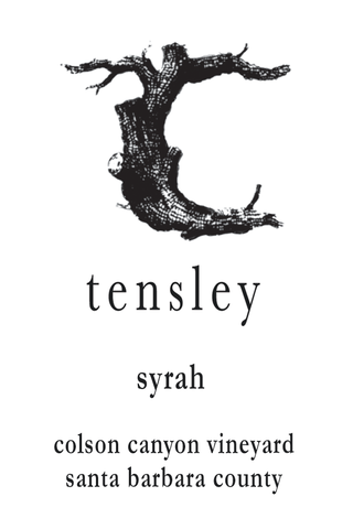 Tensley  Colson Canyon Syrah 2015