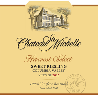 Chateau Ste. Michelle Harvest Select Riesling 2015
