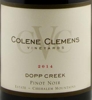 Colene Clemens Winery: Western facing view of vineyards