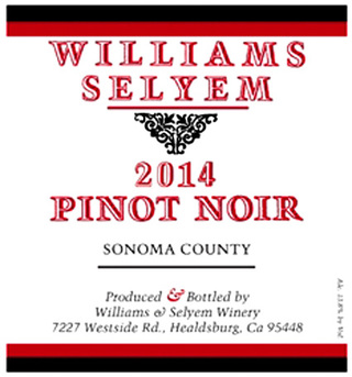 Williams Selyem Sonoma County Pinot Noir 2014