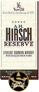 A H Hirsch Reserve Straight Bourbon 16 year old