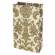 True Fabrications Gold Damask 2 Bottle Wine Bag