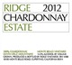 Ridge Vineyards Estate Chardonnay 2012