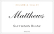 Matthews Cellars Columbia Valley Sauvignon Blanc 2013