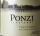 Ponzi Vineyards Pinot Noir 2012