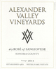 Alexander Valley Vineyards Dry Rosé of Sangiovese 2014
