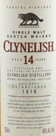 Clynelish Single Malt Scotch Whisky 14 year old
