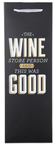 True Fabrications The Wine Store Person... Gift Bag