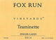 Fox Run Traminette 2014