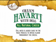 Boar's Head Precut Cream Havarti with Dill Cheese