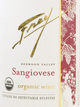 Frey Vineyards Organic Sangiovese 2014