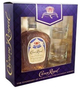 Crown Royal Blended Canadian Whisky With Glasses