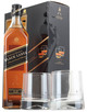 Johnnie Walker Black Label Blended Scotch Whisky Gift set with Two Glasses 12 year old