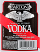 Barton Distilling Company Charcoal Filtered Vodka
