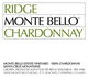 Ridge Vineyards Monte Bello Chardonnay 2013