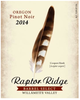 Raptor Ridge Barrel Select Pinot Noir 2014