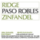 Ridge Vineyards Paso Robles Zinfandel 2015