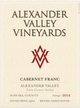 Alexander Valley Vineyards Estate Cabernet Franc 2015