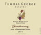 Thomas George Sons & Daughters Ranch Chardonnay 2015