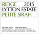 Ridge Vineyards Lytton Estate Petite Sirah 2015