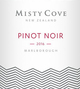 Misty Cove Pinot Noir 2016