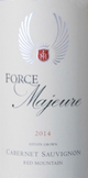 Force Majeure Vineyards Estate Cabernet Sauvignon 2014