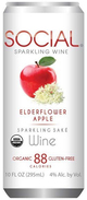 Social Sparkling Wine Elderflower Apple