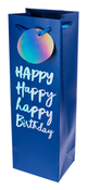 True Fabrications Very Happy Birthday Single-Bottle Wine Bag