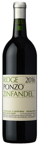 Ridge Vineyards Ponzo Vineyard Zinfandel 2016