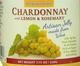 Berkshire Grain Chardonnay Wine Jelly with Lemon and Rosemary