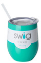 Swig Bottles Tumbler with Lid 12oz Turquoise
