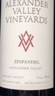 Alexander Valley Vineyards Alexander Valley Zinfandel 2015