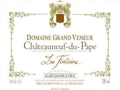 Domaine Grand Veneur Chateauneuf-du-Pape Blanc la Fontaine Vieilles Vignes