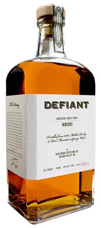 Defiant Whiskey American Single Malt Whiskey